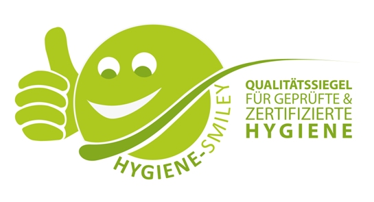 Die Hygiene-Zertifizierung mit dem Hygiene-Smiley ist eine optimale Basis, um Ihren Betrieb zukunftssicher und hygienisch auf einem Top-Niveau zu halten.