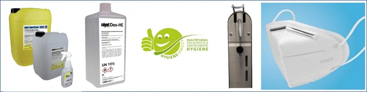 Desinfektionsmittel, Masken, Seifenspender - alles zum Thema Corona